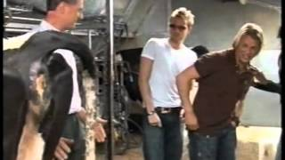 Nicky Byrne milking Twinkle the Cow