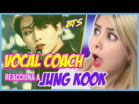 BTS - JUNG KOOK  VOCAL COACH REACCIONA  GRET ROCHA