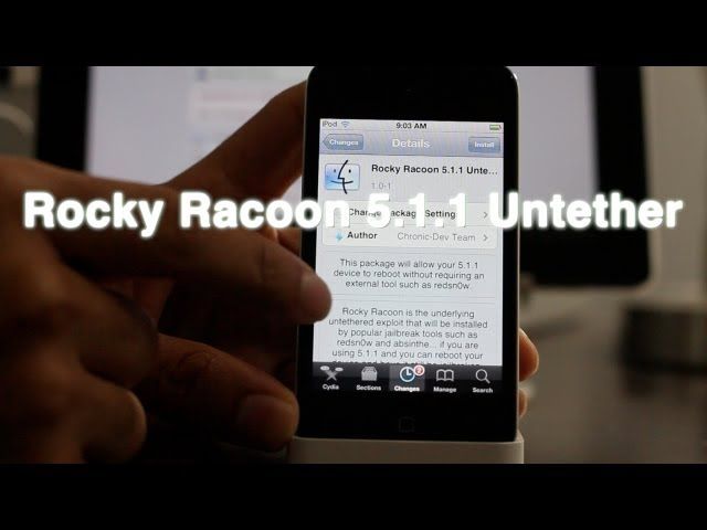 Use Rocky Racoon 5.1.1 Untether to convert your iOS 5.1.1 tethered jailbreak to untethered