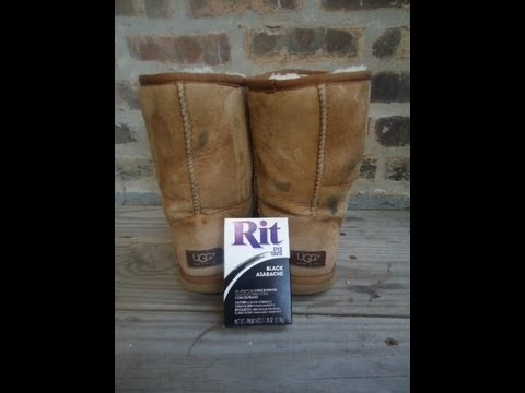 Dying My Thrifted UGG Boots! Tutorial