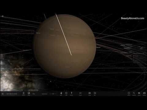 Cassini Spacecraft's Crash Landing On Saturn | Universe Sandbox 2 Simulation | Beauty Above Us