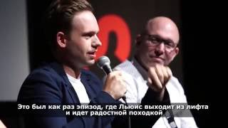 Suits Cast  discussing music on the show and how music budget works - Patrick J Adams (Mike Ross), Rick Hoffman (Louis Litt) and Meghan Markle (Rachel Zane) - с русскими субтитрами