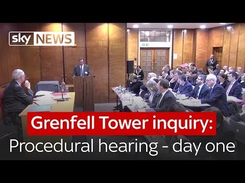 Grenfell Tower public inquiry - procedural hearing - day one