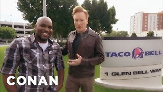 Video Conan Visits Taco Bell  - CONAN on TBS MP3, 3GP, MP4, WEBM, AVI, FLV Oktober 2018