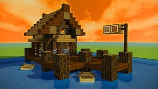 How to make a Minecraft FISHING SHACK/HUT!