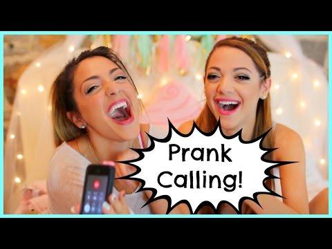 NikiAndGabiBeauty Prank Call Challenge!