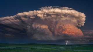 A STORM OF COLOR Time Lapse - Isolated Supercell, tornado, rainbow and lightning storm