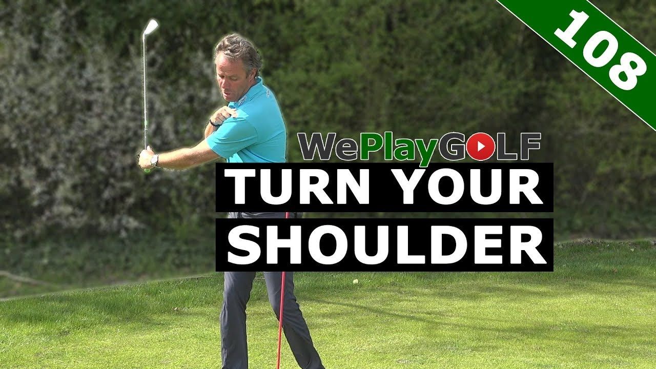 With this golf tip you ALWAYS TURN your SHOULDER in your GOLF swing - just post it!