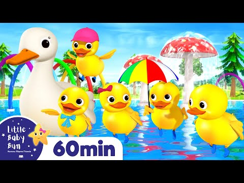 Five Little Ducks Song | +More Nursery Rhymes & Kids Songs  | ABCs and 123s | Little Baby Bum