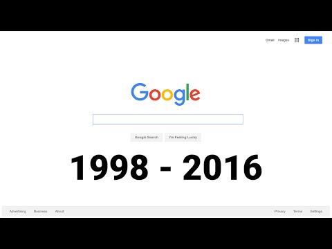 18 Years of the Google Homepage (1998-2016) - Thời lượng: 2 phút, 3 giây.