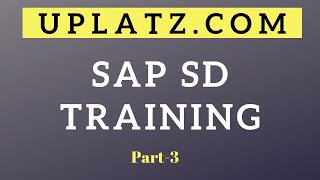 SAP SD | SAP Sales and Distribution Online Training & Certification Course | Video Tutorial | part 3