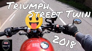 5. NEW 2018 Triumph Street Twin Road Ride Review | JafnhaarPall