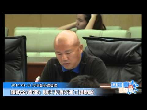 陳明金立法會全體會議 20140813
