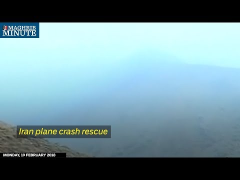 Iran plane crash rescue