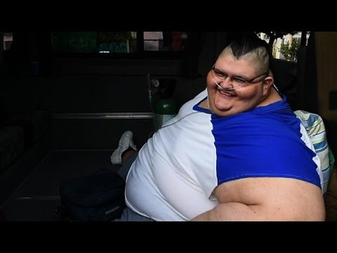 Fattest man in the world prepares for surgery in Mexico