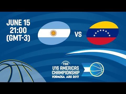 Argentina vs Venezuela - Group A - FIBA U16 Americas Championship 2017