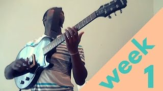 My first week of learning guitar with the game Rocksmith 2014. I'm doing the game's 60 day challenge. Subscribe if you want to join my journey! -Track at the...