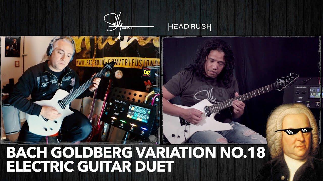 Bach Golberg Variation no. 18 – Virtual Electric Guitar Duet with Rodrigo Burotto