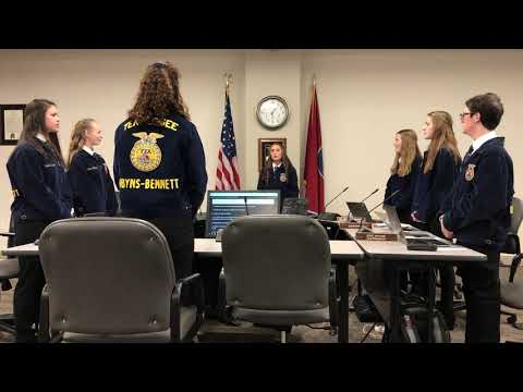 Video: D-B FFA opening ceremonies presentation