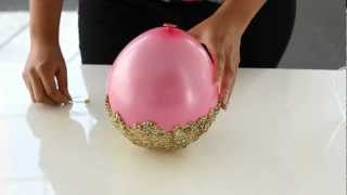 Miss Kris: DIY Glitter Accent Bowl - YouTube