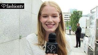 Hollie-May Saker at Maxime Simoens SS14 Hair&Make Up | Paris FW | Avicii