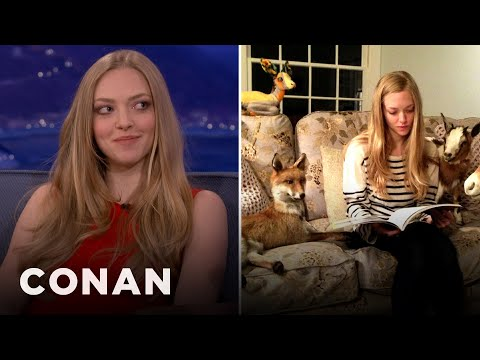 Amanda Seyfried Is Obsessed With Taxidermied Animals – CONAN on TBS
