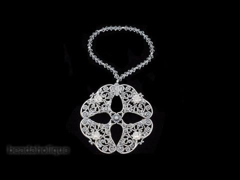 How to Make a Filigree and Swarovski Crystal Ornament