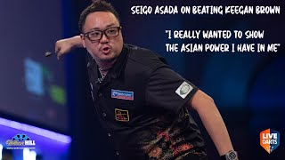 """Seigo Asada on beating Keegan Brown: """"I really wanted to show the Asian power I have in me"""""""