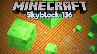 Super Simple Skyblock Slime Farm! • Minecraft 1.16 Skyblock (Tutorial Let's Play) [Part 13]