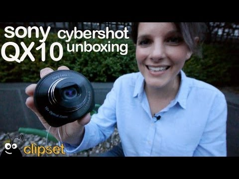 Sony CyberShot QX10 QX100 camara objetivo preview unboxing
