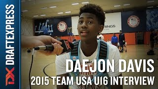 Daejon Davis 2015 Team USA U16 Interview - DraftExpress