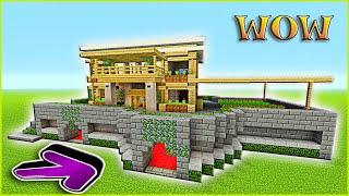 Minecraft Tutorial: How To Build A Suburban House   Minecraft Survival House   Birch