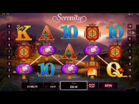 Serenity Online Slot Gameplay