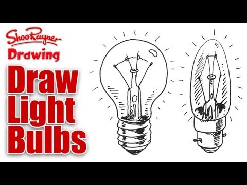 How to draw Light bulbs