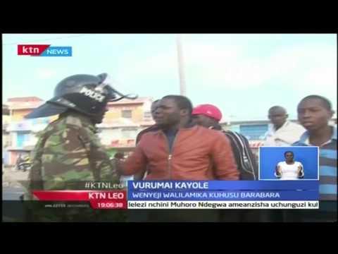 KTN Leo: Wakazi wa Kayole waandamana kufungwa kwa barabara na maafisa wa jeshi, October 24 2016
