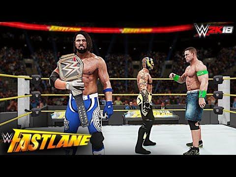 WWE 2K18 Custom Story - Heel Rey Mysterio Returns at Fastlane 2018 Six Pack Challenge Title Match!