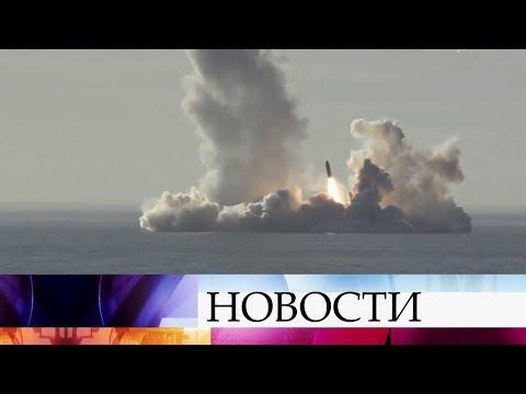 Крейсер «Юрий Долгорукий» произвел успешный пуск четырех ракет «Булава». (видео)