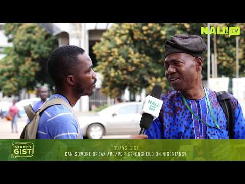 Can Sowore Break APC/PDP Stronghold On Nigerians? 2019 Election - Nigeria Street Gist | Legit TV