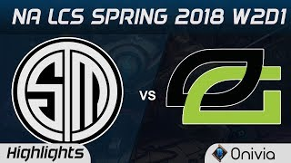 Video TSM vs OPT Highlights NA LCS Spring 2018 W2D1 Team Solo Mid vs Optic Gaming by Onivia MP3, 3GP, MP4, WEBM, AVI, FLV Juni 2018