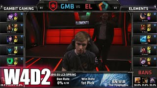 [INCOMPLETE] Gambit Gaming Vs Elements | S5 EU LCS Spring 2015 Week 4 Day 2 | GMB Vs EL 60FPS