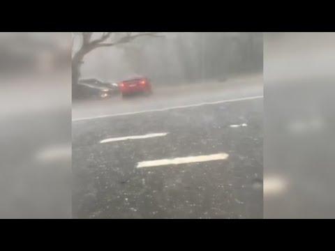 Australien: Hagel und Regenmassen sorgen für Verkehrs ...