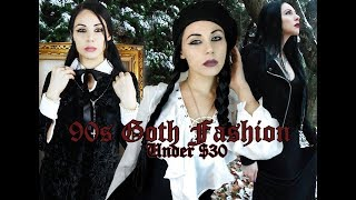 90s Goth Winter Clothing | Under $30 | Cheap Haul