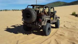 Fun in the sand in my BT-Supercharged 1998 TJ 4.0!