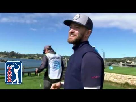 Justin Timberlake casi logra Hole in One