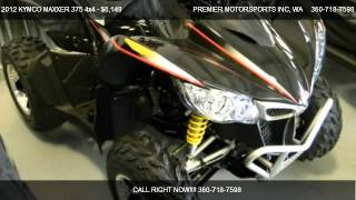 6. 2012 KYMCO MAXXER 375 4x4 ATV w/ reverse - for sale in VANCOUVER, WA 98665