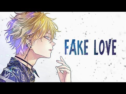 Nightcore - Fake Love (Lyrics)