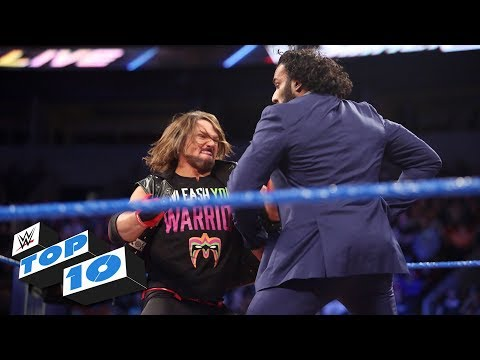 Top 10 SmackDown LIVE moments: WWE Top 10, October 17, 2017 (видео)