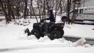 7. 2015 Polaris Sportsman 570 EPS Plowing Snow