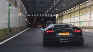 TURN UP YOUR SPEAKERS! I recorded this matte black Lamborghini Aventador LP740-4 with Supersprint exhaust blasting through a tunnel. These are probably one of the best and loudest accelerations I have ever recorded! Which exhaust do you prefer? This one or the standard one? Please share your opinion in the comments below. I hope you enjoyed watching this video. All feedback on my videos is appreciated. Feel free to like this video, leave a comment, subscribe to my channel and share this video with others! Thanks for watching!JoostGet more Autospotter15:Facebook: https://www.facebook.com/autospotter15