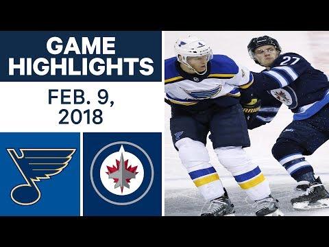 Video: NHL Game Highlights | Blues vs. Jets - Feb. 9, 2018